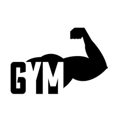 Arm strong man silhouette icon vector