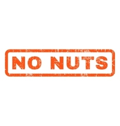 No nuts rubber stamp vector