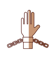 Hand human with chains vector