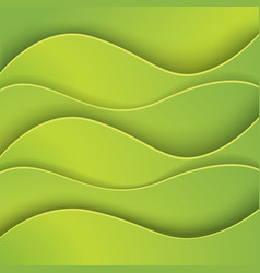 Green abstract background made of paper vector