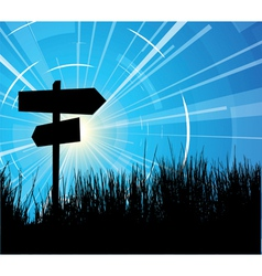 Crossroads vector