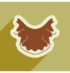 Icon of dental caries in flat style vector