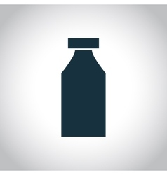 Bottle single icon vector