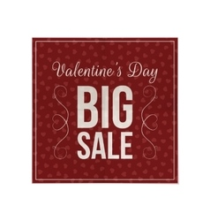 Valentines day dark red poster template vector