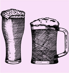 Glass beer foam vector