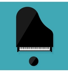 Musical flat background vector image