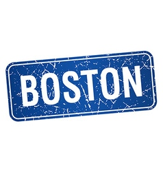 Boston blue stamp isolated on white background vector