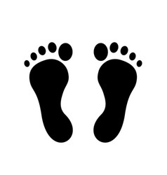 barefoot or footprint icon vector image