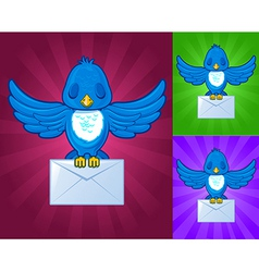 Bird with messages vector