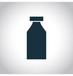 Bottle single icon vector image