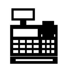 Cash register isolated icon vector