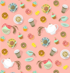 City Cafe Pattern vector image vector image