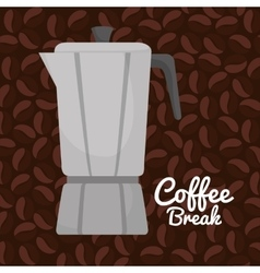 coffee maker vintage graphic vector image vector image