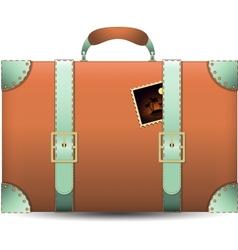 Coral Travel Suitecase vector image vector image
