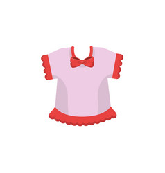 Cute baby clothes vector