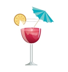 delicious tropical cocktail isolated icon vector image vector image