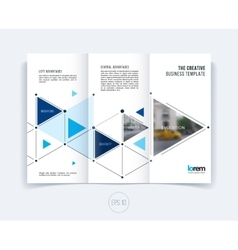 design for folding brochure or flyer vector image