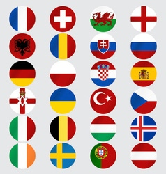 Flags of Europe vector image vector image