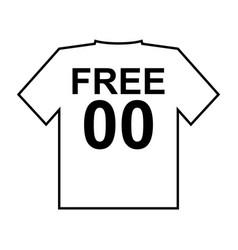 free shirt vector image vector image