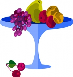 fruits on platter vector image