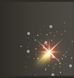 Glowing lights effects on dark background glow vector
