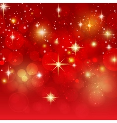 Holiday background with golden bokeh vector image vector image