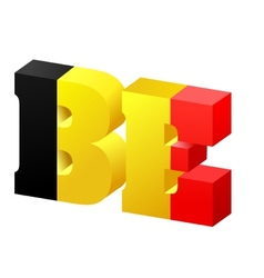 internet top-level domain of belgium vector image