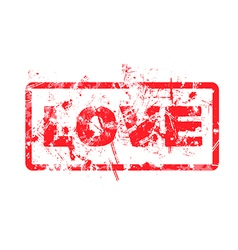 Love dirty grungy rubber stamp vector
