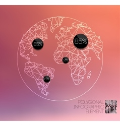 Modern elements of info graphics World Map and vector image