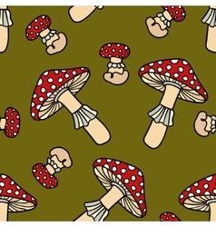 Mushroom seamless pattern vector image vector image