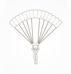 Parachuting silhouette sport extreme vector