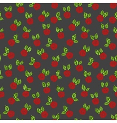 Raspberry seamless background vector image vector image
