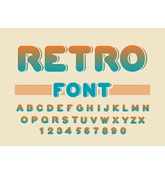 Retro font vintage rounded alphabet disco alphabet vector