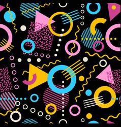 retro seamless 1980s memphis pattern vector image vector image