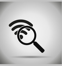 Search wifi icon vector