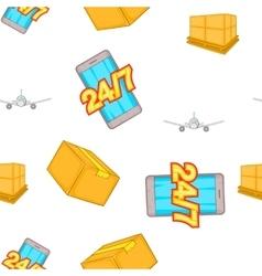 Transportation pattern cartoon style vector