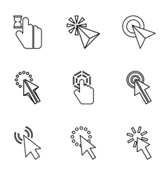 Types of arrows icons set outline style vector image vector image