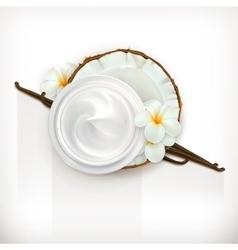 Vanilla care cream vector image vector image