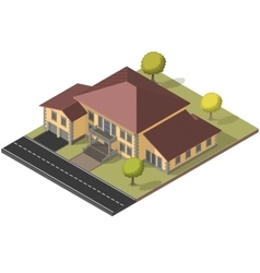 Villa isometric eps10 vector