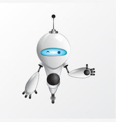 winking robot vector image