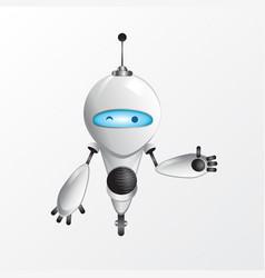 Winking robot vector