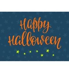 Halloween lettering typography vector image