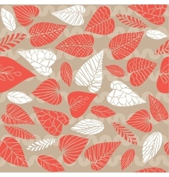 Background with exotic leaves vector image