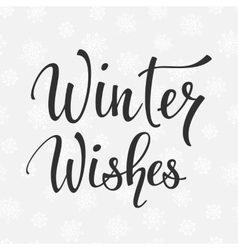 Winter wishes quote typography vector