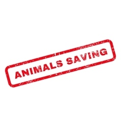 Animals saving text rubber stamp vector