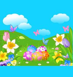 Easter meadow vector