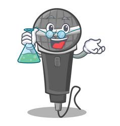 Professor microphone cartoon character design vector
