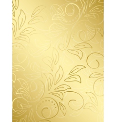 Gold floral background with gradient vector