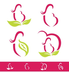 Natural pregnancy design collection vector
