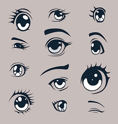 Manga style eyes vector image